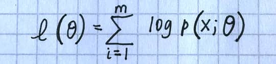 A handwritten equation captured from the mobile Snip app from notes