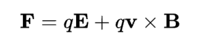 The equation for electromagnetic force or Lorentz force