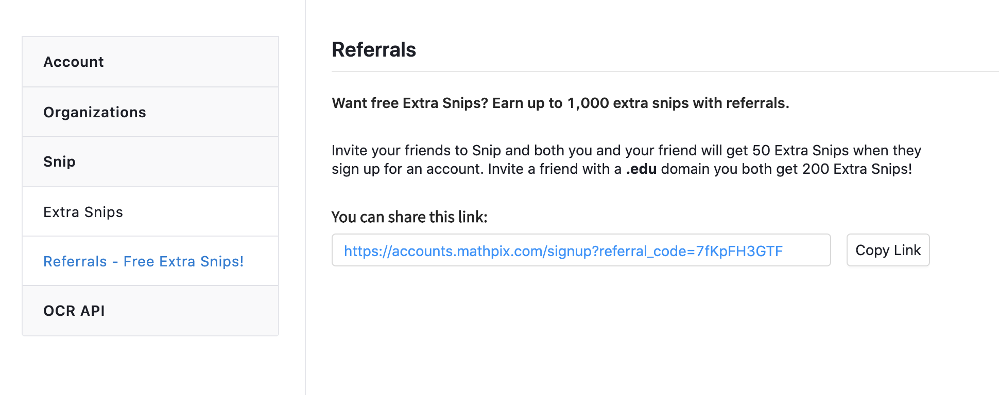 Referral page